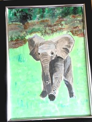 Painting - Baby Dumbo by Audrey Pollitt