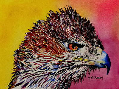Baby Eagle Art Print by Maria Barry