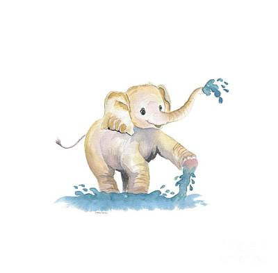 Painting - Baby Elephant 2 by Melly Terpening