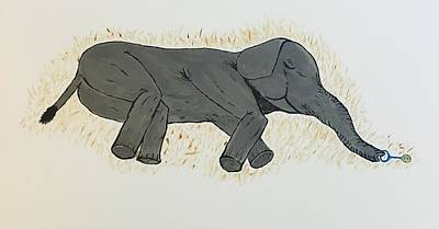 Painting - Baby Elephant  by Chris Bishop