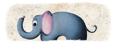 Baby Digital Art - Baby Elephant by David Breeding