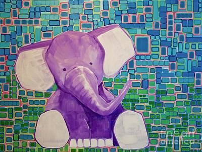 Painting - Baby Elephant by Donna Howard