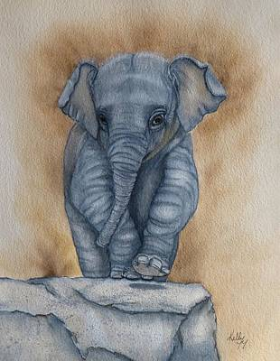Painting - Baby Elephant  by Kelly Mills