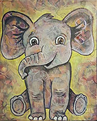 Mixed Media - Baby Elephant by Sandra Wallace