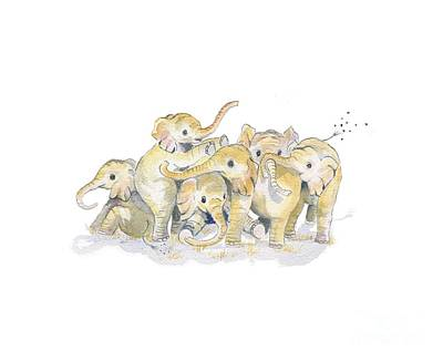 Painting - Baby Elephants by Melly Terpening