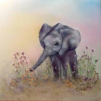 Painting - Baby Ellie  by Annamarie Sidella-Felts