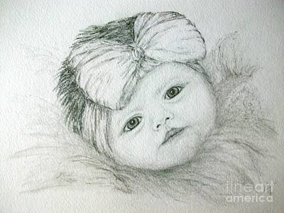Drawing - Baby Face by Ej Catoe
