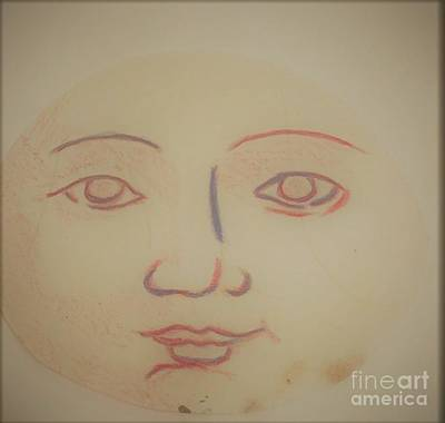 Drawing - Baby Face by Suzn Art Memorial