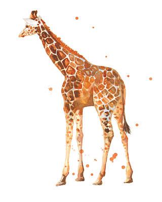 Baby Giraffe Painting - Baby Giraffe by Alison Fennell
