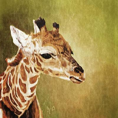 Painting - Baby Giraffe by Mandy Tabatt