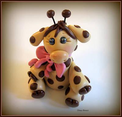 Baby Giraffe Art Print by Trina Prenzi