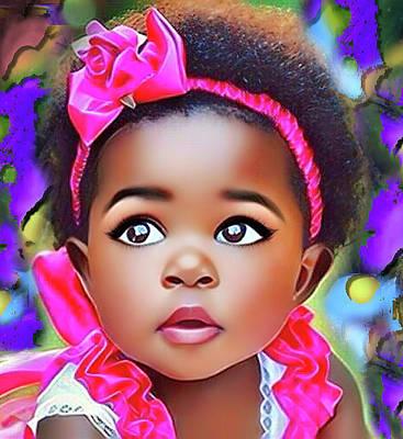Digital Art - Baby Girl by Karen Showell