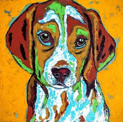 Animal Lovers Painting - Baby Girl by Mary Papageorgiou