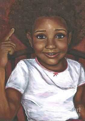 Painting - Baby Girl's Afro by Alga Washington