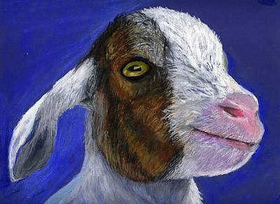 Baby Goat Art Print by Angela Finney
