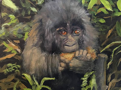 Mixed Media - Baby Gorilla by Lynne Atwood