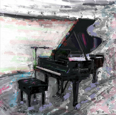 Painter Mixed Media - Piano Music, Baby Grand by Mark Tonelli
