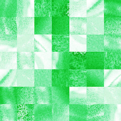 Royalty-Free and Rights-Managed Images - Baby Green Marble Quilt I by Irina Sztukowski