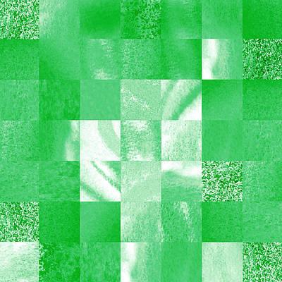 Baby Green Marble Quilt II Art Print