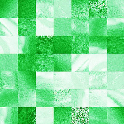 Royalty-Free and Rights-Managed Images - Baby Green Marble Quilt III by Irina Sztukowski