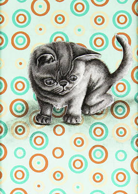 Drawing - Baby Haribeau by Mary Williams