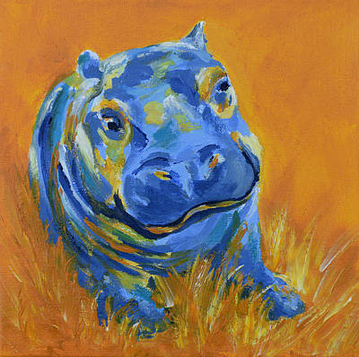 Painting - Baby Hippo by Catherine Jeltes
