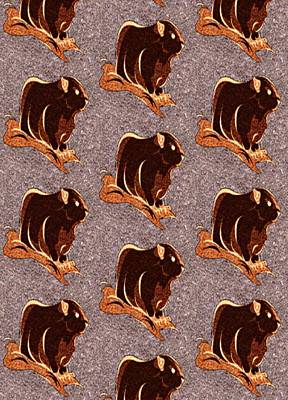 Groundhog Digital Art - Baby Hogs by Devorah Fraser