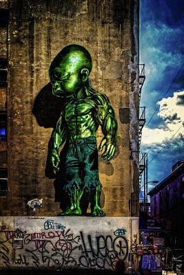 Digital Art - Baby Hulk by Chris Lord