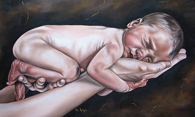 Mother Painting - Baby by Ilse Kleyn