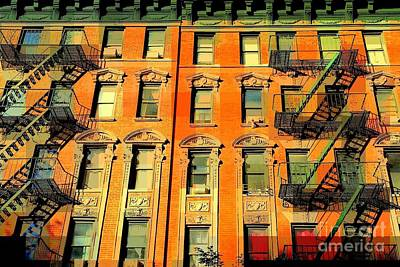 Photograph - Baby Its Hot Outside - The Windows Of Old New York by Miriam Danar