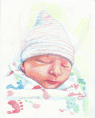 Drawing - Baby James by Candace Lovely