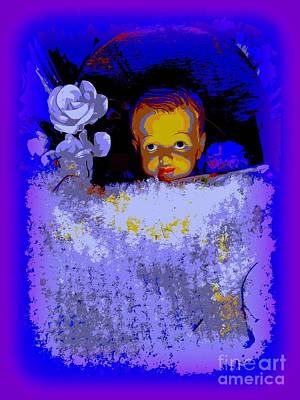 Digital Art - Baby Jesus In Manger #1 by Ed Weidman