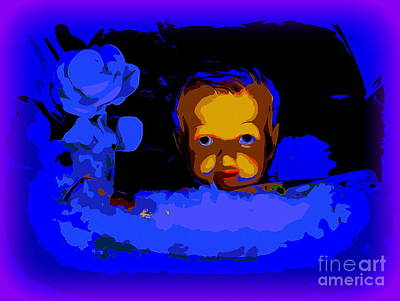 Digital Art - Baby Jesus In Manger #2 by Ed Weidman