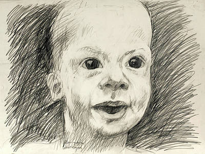 Lincoln Memorial Drawing - Baby John Iv by John Grazier