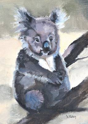 Painting - Baby Koala Bear Safari Animal Print by Donna Tuten