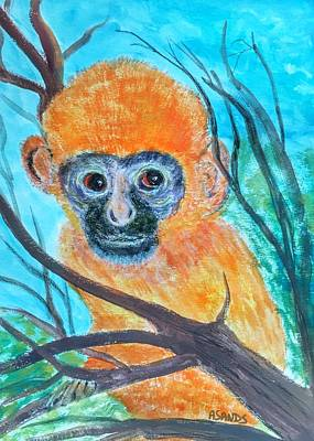 Painting - Baby Langur by Anne Sands