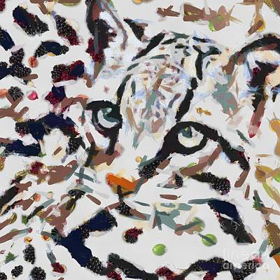 Painting - Baby Leapard Fragmented by Catherine Lott
