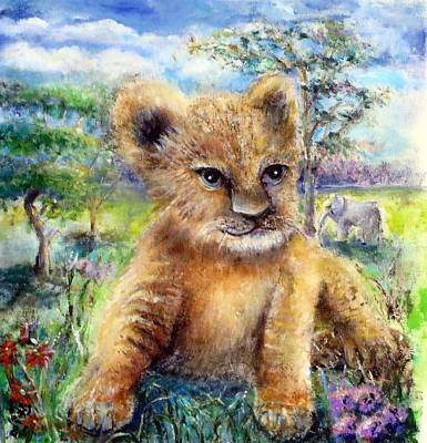 Painting - Baby Lion by Bernadette Krupa