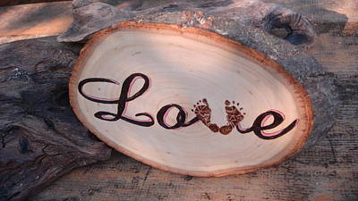 Pyrography - Baby Love by Dakota Sage