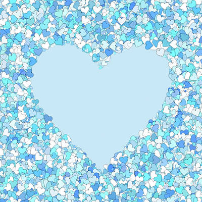 Digital Art - Baby Loves Blue Heart by Georgiana Romanovna