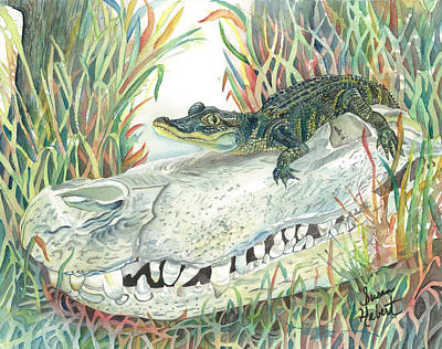 Louisiana Alligator Painting - Baby Merchant by Susan Hebert