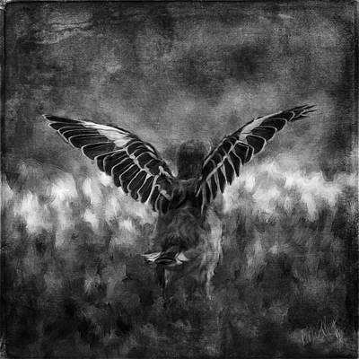 Linda King Digital Art - Baby Mockingbird 6712 by Linda King