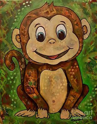 Mixed Media - Baby Monkey by Sandra Wallace