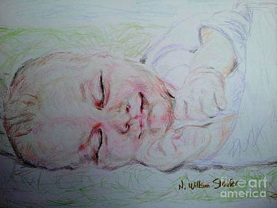 Baby Moses On The River Original by N Willson-Strader