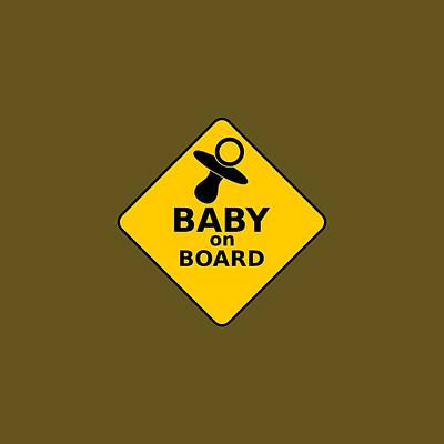 Baby On Board Art Print by Michelle Murphy