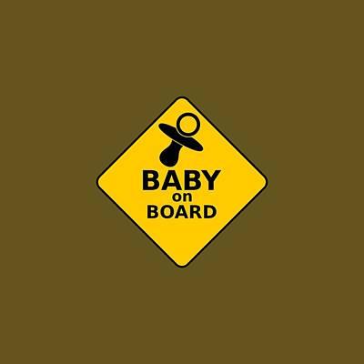 Baby On Board Print by Michelle Murphy