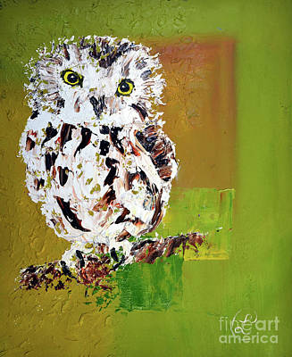 Painting - Baby Owl by Lynda Cookson
