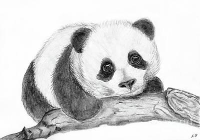 Painting - Baby Panda by Sergey Lukashin