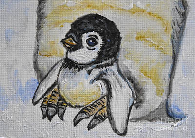 Painting - Baby Penguin by Ella Kaye Dickey