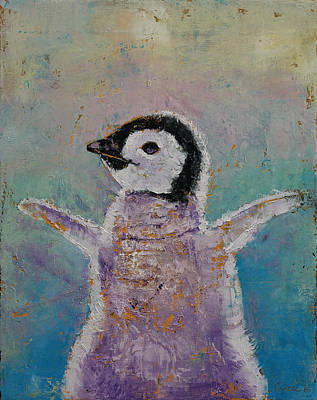 Penguin Painting - Baby Penguin by Michael Creese